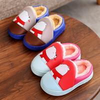儿童棉拖鞋防滑软底毛拖鞋中童居家厚底棉鞋