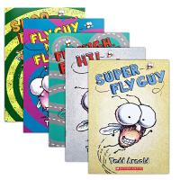苍蝇小子Fly Guy英文原版绘本儿童英语初级读物 趣味神奇初级桥梁章节书 shoo high meets fly girl 中小学课外阅读英文版正版进口