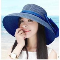大沿沙滩帽女帽遮阳帽草帽优雅太阳帽可折叠韩版