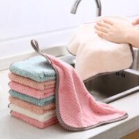 厨房清洁 家用清洁珊瑚绒擦手巾抹布2020新款厨房多用可挂式不掉毛吸水洗碗巾厨房杂件