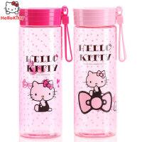 儿童水杯女童防漏Hello Kitty学生卡通可爱夏季便携创意宝宝水杯