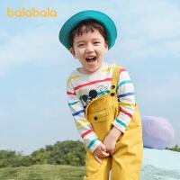 【2件7.5折:44.9】巴拉巴拉儿童T恤男童长袖宝宝春装2021新款童装纯棉