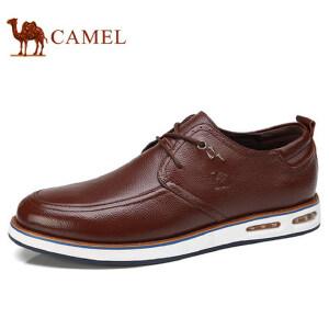 camel 骆驼男鞋 秋季新品日常休闲低帮真皮鞋舒适耐磨休闲男鞋
