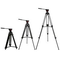单反相机摄影拍照三脚架铝合金专业便携支架通用液压阻尼云台折叠
