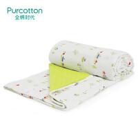 全棉时代 春夏小树+绿底白点儿童纱布空调被135x120cm1件/袋