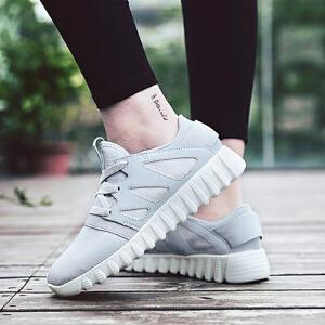 【限时特价】Q-AND/奇安达女士粉色轻便减震百搭透气韩版小增高跑步休闲鞋