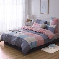 学生宿舍三件套纯棉床上用品四件套全棉被套床单 2.0米床 四件套