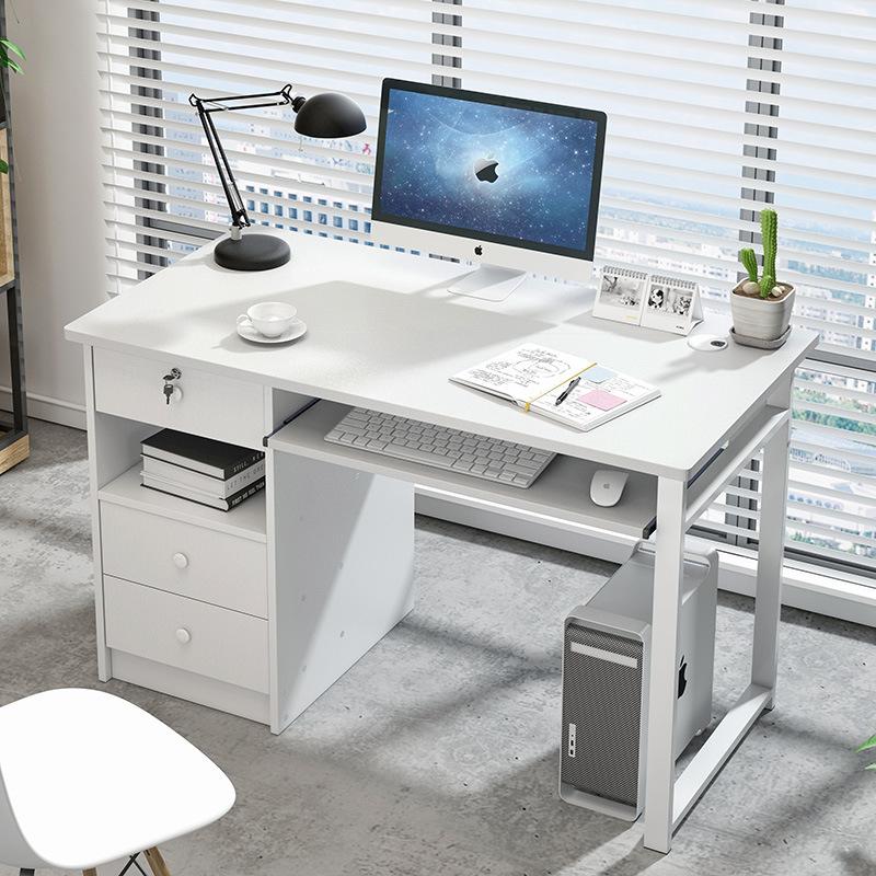 【1件3折 领券】环保耐磨简易款钢木电脑桌升级A 小户型易拆装装饰书架壁挂柜 支持* 标准烤漆 安装超简单
