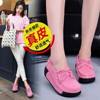 品牌女鞋流苏真皮增高坡跟单鞋时尚流行女鞋