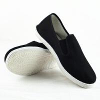 老北京布鞋千层底布鞋机纳布底鞋男女士黑色工作鞋透气开车男布鞋