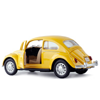 金属仿真1/28大众经典甲壳虫1967复古小汽车模型声光回力开门