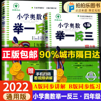 小学奥数举一反三四年级数学ab版上下册4年级人教北师版通用