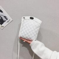 手机包女2018新款迷你小包潮菱格链条斜挎包百搭小香风少女小挎包