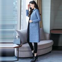 白鸭绒轻薄羽绒服女中长款2018新款反季韩版女士内胆过膝修身时尚