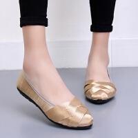 老北京布鞋女单鞋浅口时尚平底平跟舒适透气软底黑色工作鞋女鞋子