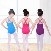 儿童舞蹈服练功服吊带女童跳舞服装纯棉形体服夏季芭蕾舞服