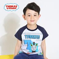 【满600减400】托马斯正版童装男童夏装时尚圆领纯棉印花短袖T恤打底衫