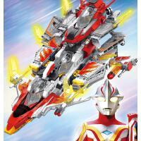 宇宙英雄奥特曼系列儿童积木GUYS飞翼号玩具
