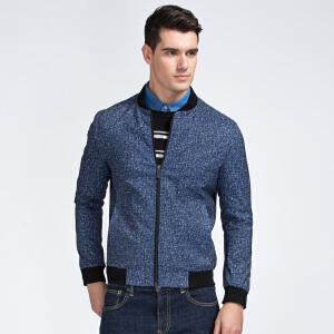 才子男装(TRIES)夹克 男士2017新款纯色立领简约时尚修身版百搭夹克外套 两色可选