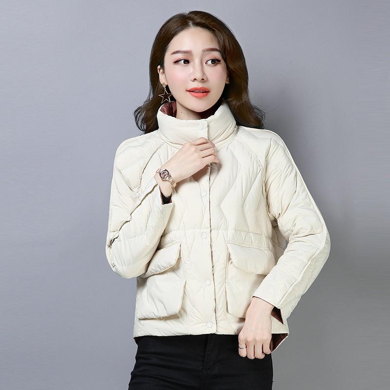 轻薄羽绒服女短款2018新款冬韩版时尚欧洲站女装小个子外套欧货潮