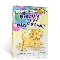 进口英文原版绘本 小饼干狗系列 Biscuit and the Big Parade! 幼儿英语启蒙阅读故事图画书 儿