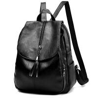 妈妈旅游单肩双肩包包女新款中年妇女软皮户外短途旅行小背包
