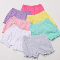 夏季女童宝宝短裤婴儿灯笼裤打底裤面包裤可开档外穿薄