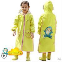 时尚卡通儿童雨衣尼龙提花男女童透气雨披带书包位雨衣 可礼品卡支付