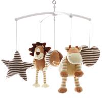 狮子王婴儿床铃宝宝毛绒布艺音乐旋转床头铃成品安抚玩具