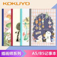 日本国誉KOKUYO笔记本 记事本 无线装订 2款可选 B5/A5小熊之家系列单本图案*