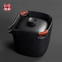 功夫茶具单品茶壶日式泡茶器茶杯大号粗陶过滤防烫双耳手抓壶瓷器