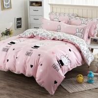 棉四件套床罩床裙式纯棉卡通1.5m/1.8米床单被套2床裙笠罩4件套