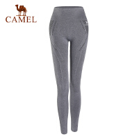 camel/骆驼运动服针织长裤女款高腰健身健美瑜伽运动长裤
