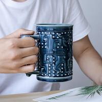 乾唐轩活瓷杯正品大龙凤高杯陶瓷喝茶杯办公水杯子泡茶