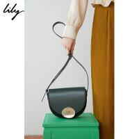 【5/26-6/1 2件2折价:179.8元】 Lily春女装时髦OL通勤金属扣斜跨包单肩包119100BZ429