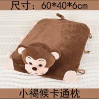 儿童乳胶枕头卡通枕动物枕头两用抱枕宝宝枕头公仔玩具枕