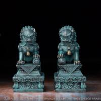 王府狮一对纯铜狮子摆件工艺品北京故宫纪念品镇宅风水