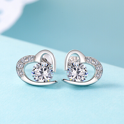 耳钉女时尚气质个性心形耳环简约百搭甜耳饰品