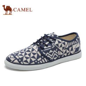 camel 骆驼男鞋低帮休闲鞋帆布鞋男鞋子休闲平板鞋透气系带男鞋