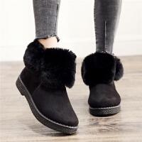 【百搭】翻毛冬季加绒加厚雪地靴女短靴韩版学生靴潮棉鞋子