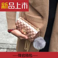 生活女包包2018新款韩版时尚小方包哑光果冻包单肩斜跨链条包迷你小包