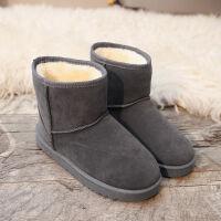 雪地靴女短筒短靴秋冬防滑加厚保暖棉鞋加绒加厚时尚潮流棉靴子女