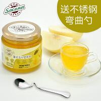 【买2瓶送勺】 Socona蜂蜜雪梨茶500g韩国风味水果茶蜜炼酱冲饮品