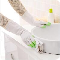 厨房家务塑胶防水手套耐用薄款防油污乳胶洗碗手套