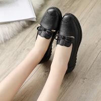 妈妈鞋软底舒适单鞋夏季款中老年人女鞋奶奶防滑平底中年老人皮鞋 35 标准尺码