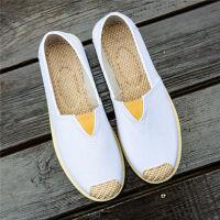 帆布鞋女夏季一脚蹬老北京布鞋女练车鞋懒人鞋工作鞋平底透气鞋