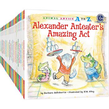 幼儿园里的26个开心果Animal Antics A to Z英语启蒙绘本,含地道美语音频。满足孩子认字母、学单词、练表达、培养好性格好品质等多重需要,适合幼儿园至小学低中年级孩子阅读。先后获得美国《学习杂志》教师选择儿童读物奖和家庭读物等奖。