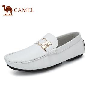 骆驼牌 男鞋 新品舒适平底豆豆鞋耐磨驾车鞋套脚休闲鞋男