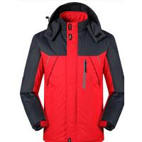 男士修身棉衣外套 户外休闲运动服装 加绒加厚冲锋衣野营登山服