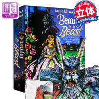 美女野兽立体书进口英文原版 Beauty and the Beast hop up book 儿童读物 迪士尼 经典童话故事